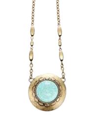 Avon Tangier Markt Pendant Necklace for Women, Turquoise/Gold