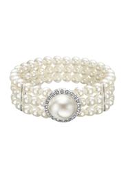 Avon Rubin Beaded Bracelet for Women, White