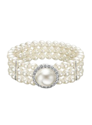 Avon Rubin Beaded Bracelet for Women, White