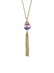 Avon Katerina Pendant Necklace for Women, Purple/Gold