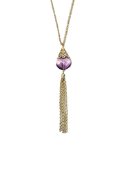 Avon Katerina Pendant Necklace for Women, Purple/Gold