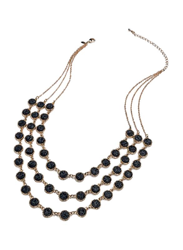Avon Rishelle Strand Necklace for Women, Black/Gold