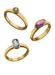 Avon Holiday Party Stackable Ring for Women, Gold, Size 8