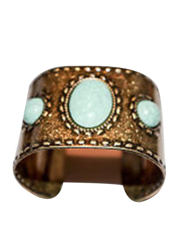 Avon Tangier Market Cuff Bracelet for Women, Turquoise/Gold