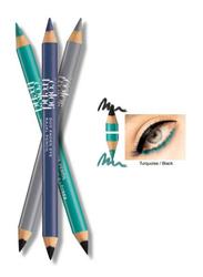 Avon Color Trend Eye Duo Kajal Pencil, Black/Turquoise