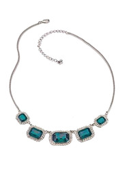 Avon Camile Radiant Opera Necklace for Women, Green/Silver