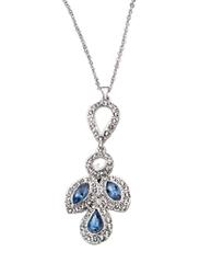Avon Viola Stone Pendant Necklace for Women, Blue/Silver