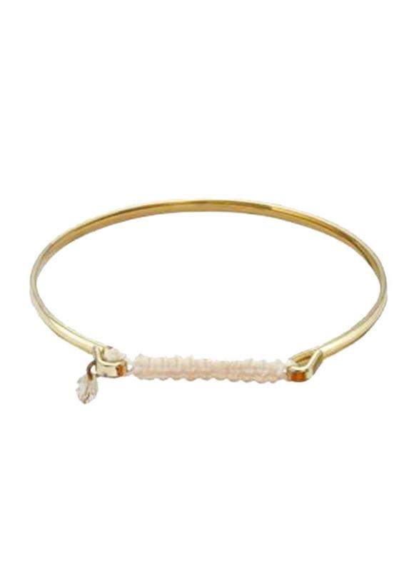 Avon Natalia Kada Bracelet for Women, Gold/Purple
