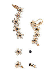 Avon Felicity Earcuff Gift Set for Women, with Glass Stones, White/Gold/Black