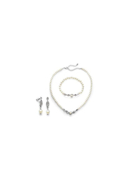 Avon 3-Piece Amaryn Jewellery Gift Set for Women, with Bracelet, Earrings and Necklace, White