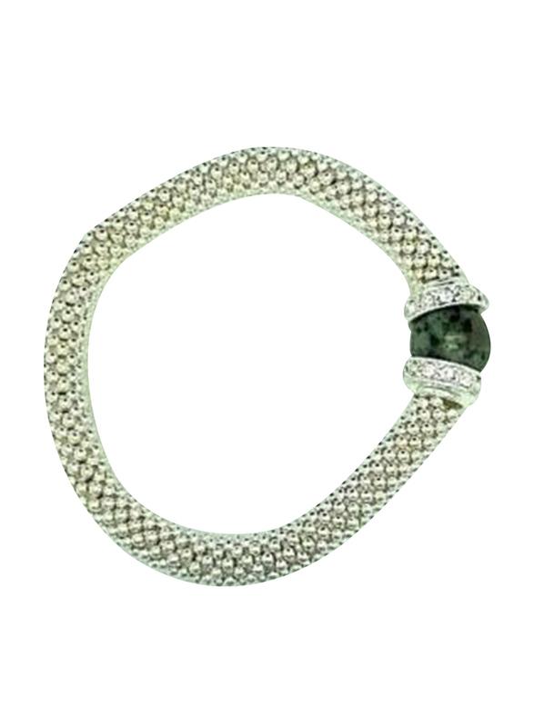 Avon Jasalin Stretch Bracelet for Women, with Amethyst Beads, White