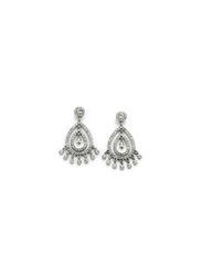Avon Miya Metal Drop Earrings for Women, with Glass Stones, Silver