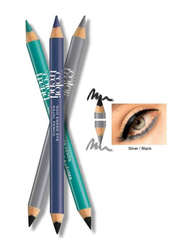Avon Color Trend Eye Duo Kajal Pencil, Black/Silver