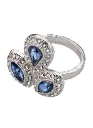Avon Viola Stone Fashion Ring for Women, with Diamond Stone, Silver Size 8
