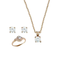 Avon 3-Piece Jaimilyn Jewellery Gift Set for Women, with Necklace, Earring and Ring, Size 8, Gold
