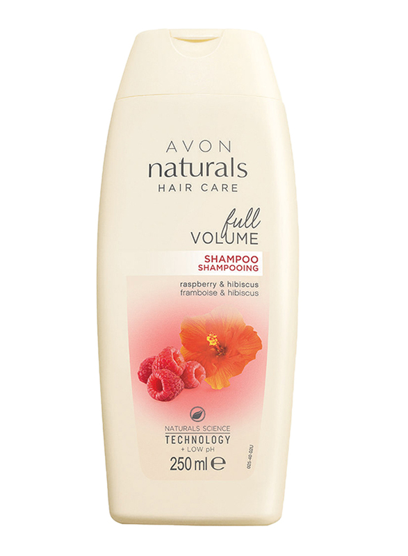 Avon Naturals Raspberry and Hibiscus Full Volume Shampoo for All Hair Types, 250 ml