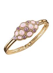 Avon Lavender Petal Bangle Bracelet for Women, with Diamond, Gold