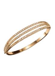 Avon Dancing Shimmer Bangle Bracelet for Women, with Diamonds, Gold