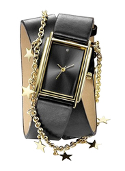 Avon Tarina Wish Analog Watch for Women with Leather Band, Water Resistant, Black