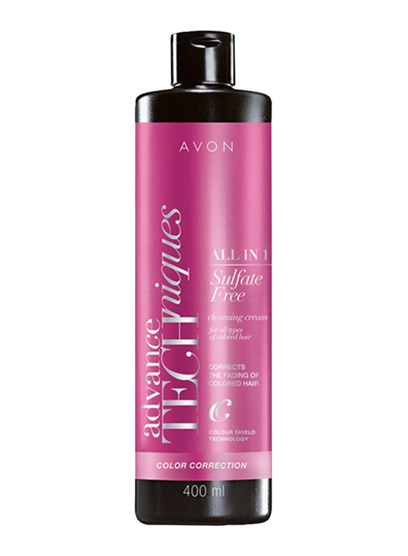 Avon Advance Techniques Pro Color Sulfate Free All-in-1 Cleansing Shampoo for All Hair Type, 400 ml