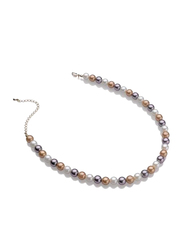 Avon Portia Pearl Necklace for Women, White/Brown/Black
