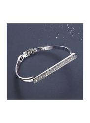 Avon Felicity Designer Bracelet for Women, with Acrylic Stone, Silver