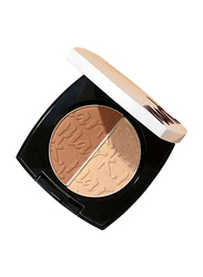 Avon Mark. Dual Glow Cheek Color & Highlighter Blush, Just Pinched, Beige/Brown