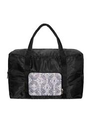 Avon Mono Bloom Nylon Foldable Weekender Bag for Women, Black