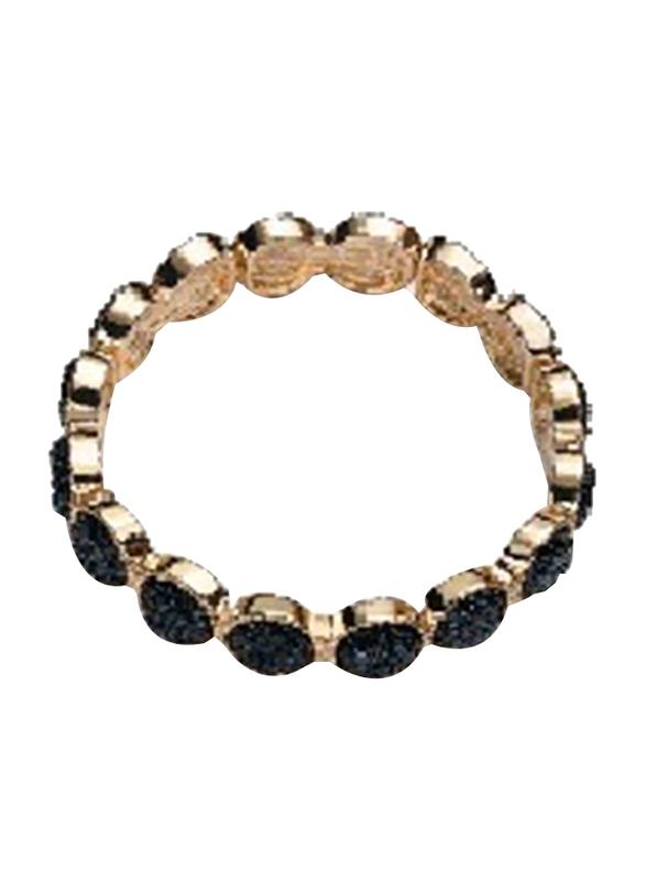 Avon Rishelle Designer Bracelet for Women, Black/Gold
