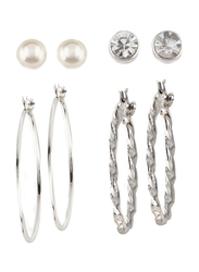 Avon Brooklyn Silver Plated Earring Set for Women, with Pearl, Silver