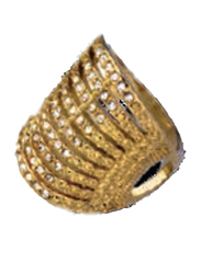 Avon Dancing Shimmer Fashion Ring for Women, Gold, Size 8