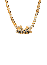 Avon Elise Panther Chain Necklace for Women, Gold