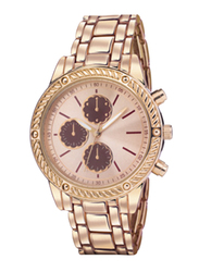 Avon Mayleen Boyfriend Analog Watch for Women with Stainless Steel Band, Water Resistant & Chronograph, Rose Gold