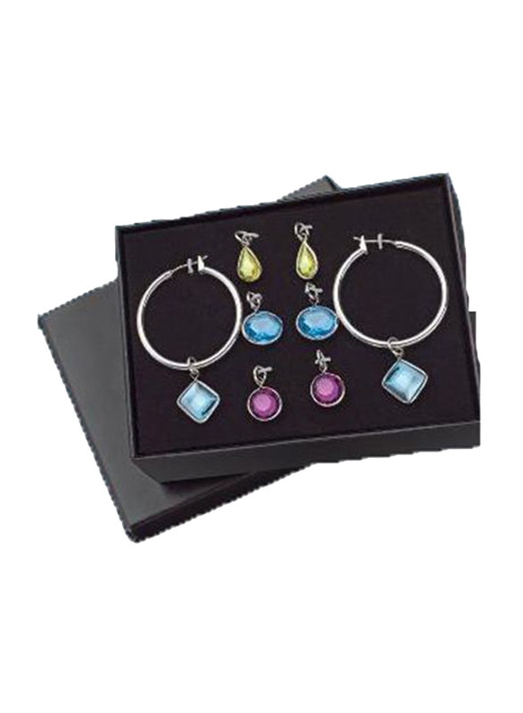Avon Lauryn Earrings Gift Set for Women, Blue/Pink/Green