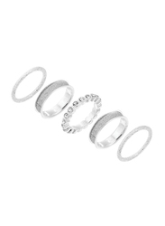 Avon Halsey Silver Plated Fashion Ring for Women, Silver, Size 8