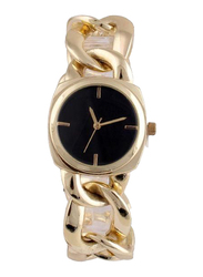 Avon Brianny Analog Watch for Women with Stainless Steel Band, Water Resistant, Gold-Black