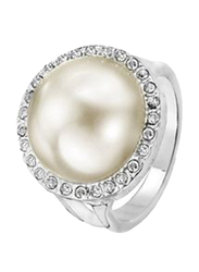 Avon Rubin Fashion Ring for Women, with Pearl and Stone, White, Size 8