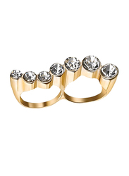 Avon Adriana Fashion Ring for Women, with Stones, Gold/White, Size 8