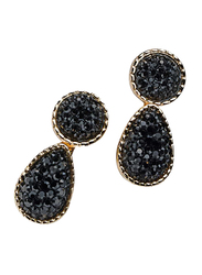 Avon Rishelle Drop Earrings for Women, Black/Gold