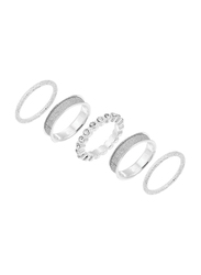 Avon Halsey Silver Plated Fashion Ring for Women, Silver, Size 6