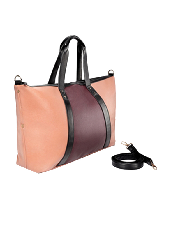 Avon Abree Colourblock Weekender PVC Tote Bag for Women, Brown