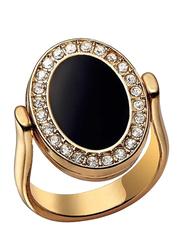 Avon Sydney Flip Fashion Ring for Women, with Stone, Black/Gold, Size 8