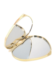 Avon Heart Shaped Compact Mirror, Gold
