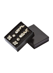 Avon Dreamy Sparkle Gold Plated Earrings Gift Set for Women, with Glass Stone, Gold/White