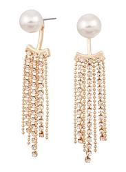 Avon Catie Interchangeable Drop Earring for Women, with Pearl, White/Gold