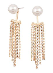 Avon Catie Interchangeable Drop Earring for Women, with Pearl, White/Gold