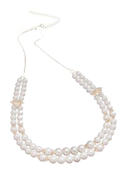 Avon Peacock Pearl Strand Necklace for Women, White