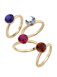 Avon Maxine Fashion Ring for Women, Red/Pink/Blue, Size 8