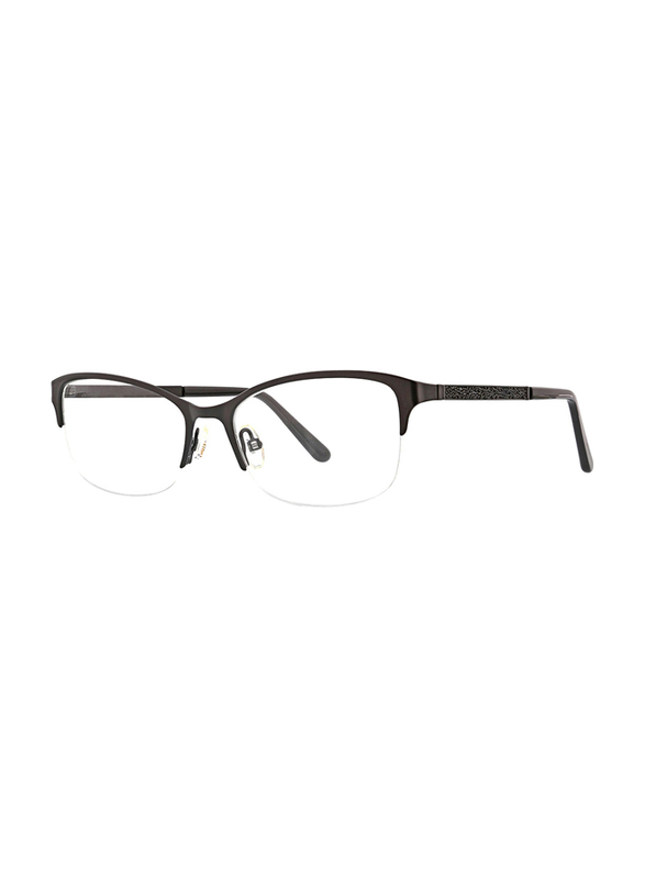 XOXO Viejo Half-Rim Tea Cup Black Eyeglass Frame for Women, 53/17/135