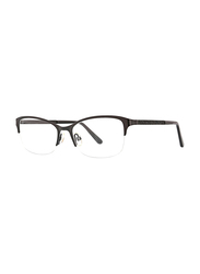 XOXO Viejo Half-Rim Tea Cup Black Eyeglass Frame for Women, 53/17/135